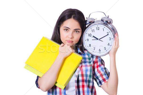 Estudiante cumplir plazos libro libros escuela Foto stock © Elnur
