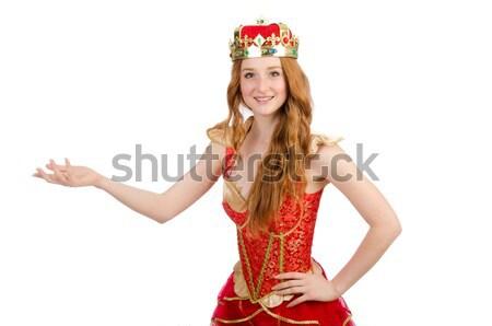 Bella ragazza corona virtuale Foto d'archivio © Elnur