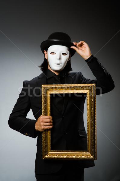 Divertente teatrale maschera sfondo imprenditore triste Foto d'archivio © Elnur