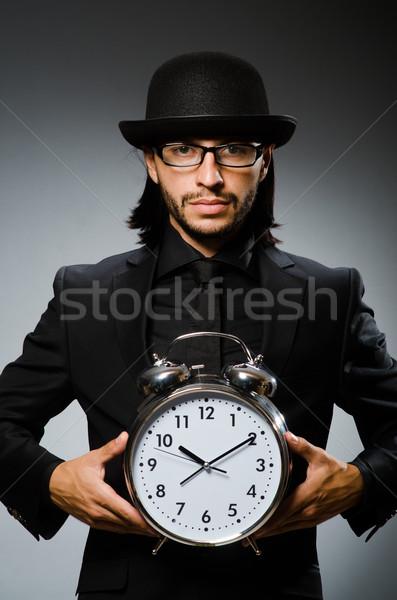 Homem relógio vintage seis empresário Foto stock © Elnur