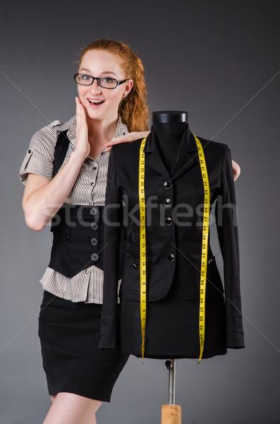 Kadın terzi çalışma yeni elbise iş Stok fotoğraf © Elnur