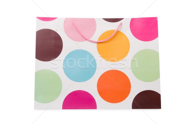 Geschenk zakken geïsoleerd witte papier ontwerp Stockfoto © Elnur