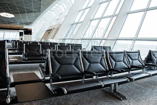 стульев аэропорту Lounge стекла металл окна Сток-фото © Elnur