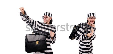 тюрьмы заключенный изолированный белый счастливым весело Сток-фото © Elnur