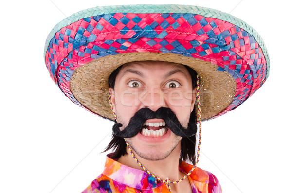 Engraçado mexicano sombrero seis homem felicidade Foto stock © Elnur