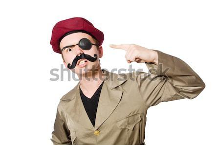 Komik asker askeri el savaş öfkeli Stok fotoğraf © Elnur