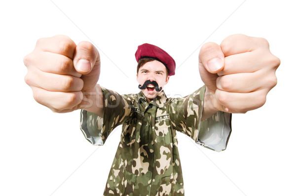 Komik asker askeri adam arka plan savaş Stok fotoğraf © Elnur