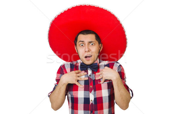 Funny mexican with sombrero in concept Stock photo © Elnur