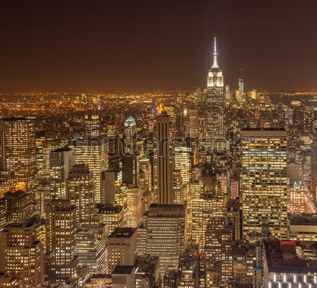 Noto grattacieli New York notte business cielo Foto d'archivio © Elnur