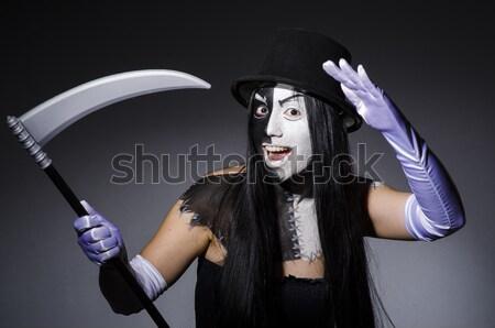 Divertente halloween ragazza party sexy maschera Foto d'archivio © Elnur