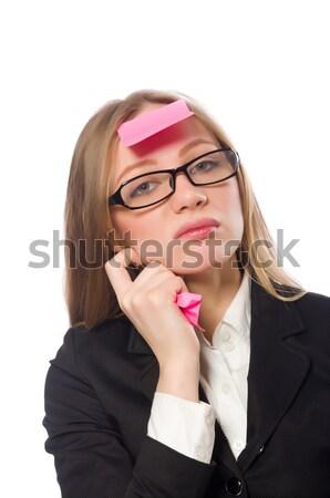 Mujer aislado blanco negocios sonrisa cara Foto stock © Elnur