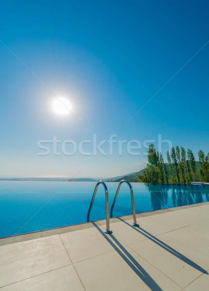 Infinito piscina luminoso estate giorno cielo Foto d'archivio © Elnur