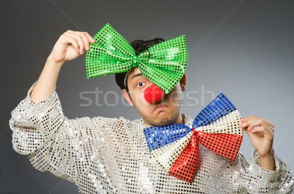 Funny clown with red nose Stock photo © Elnur