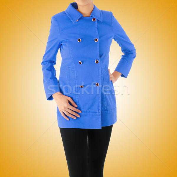 élégant veste isolé modèle femme bleu Photo stock © Elnur