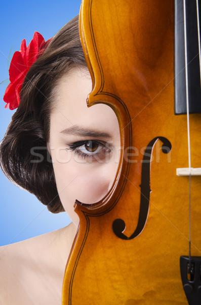 Jovem violino branco mulher concerto soar Foto stock © Elnur