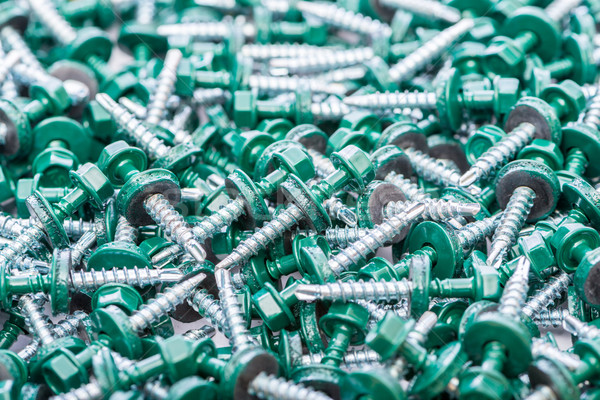 Beaucoup bâtiment fond métal vert industrie Photo stock © Elnur