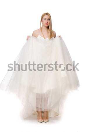 женщину подвенечное платье изолированный белый девушки любви Сток-фото © Elnur
