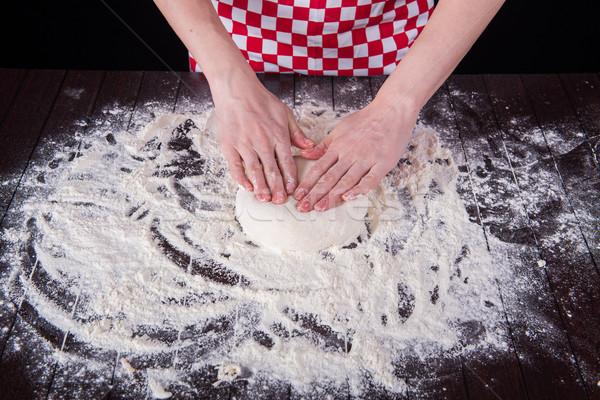Stok fotoğraf: Pişirmek · mutfak · eller · gıda · ev