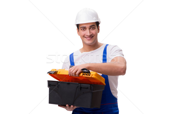 Repairman with toolbox isolated on white Stock photo © Elnur