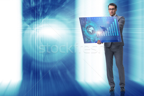 Imprenditore borsa di trading soldi internet uomo Foto d'archivio © Elnur