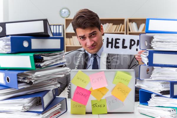 Occupés affaires aider travaux affaires Photo stock © Elnur