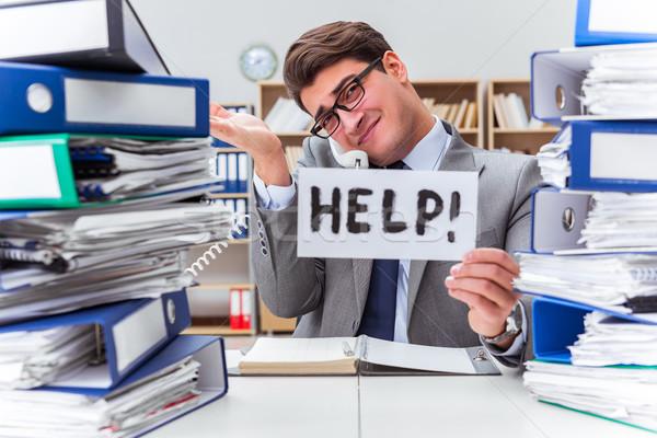 Occupato imprenditore help lavoro business Foto d'archivio © Elnur