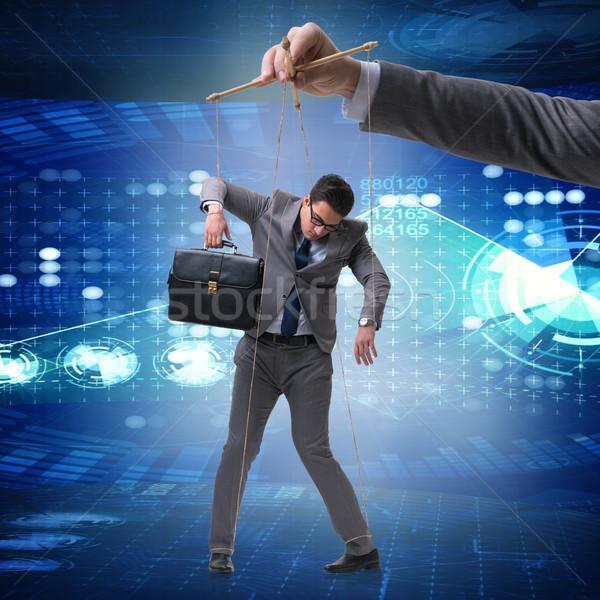 Empresário fantoche manipulado patrão homem corda Foto stock © Elnur