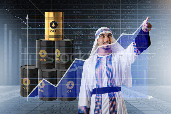 The arab businessman in oil price business concept Stock photo © Elnur