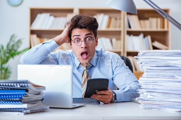Funny contador de trabajo oficina ordenador Foto stock © Elnur