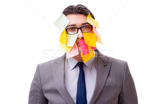 Biznesmen wiele odizolowany biały biuro pracy Zdjęcia stock © Elnur