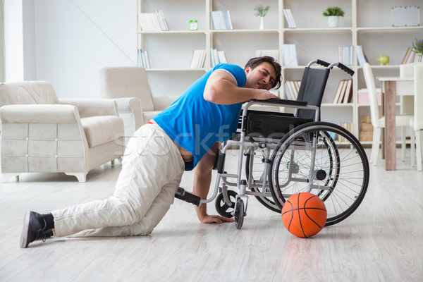 The young basketball player on wheelchair recovering from injury Stock photo © Elnur