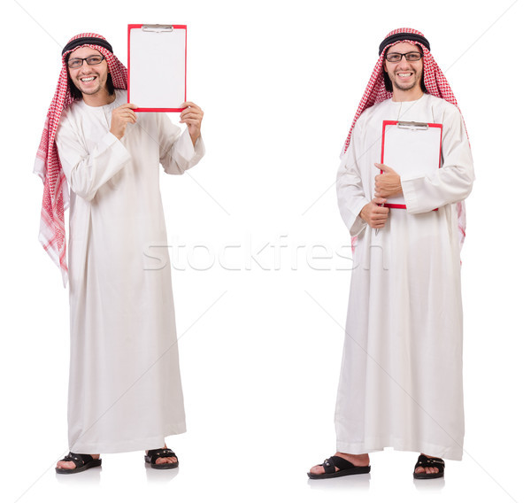 Arab man with binder isolated on white Stock photo © Elnur