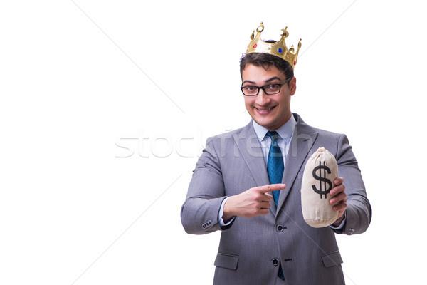Re imprenditore soldi bag isolato Foto d'archivio © Elnur
