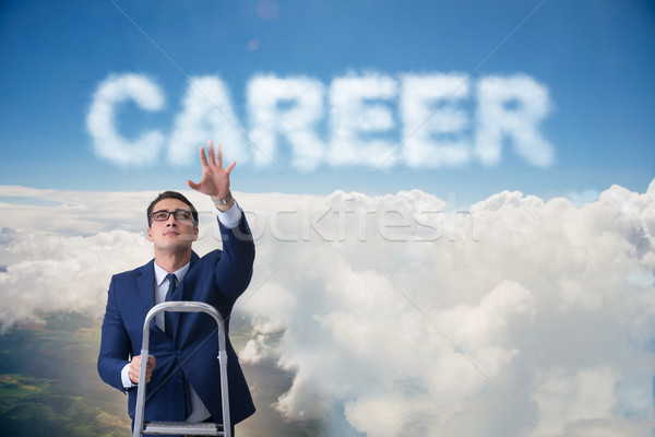 üzletember karrier üzlet égbolt fut sétál Stock fotó © Elnur