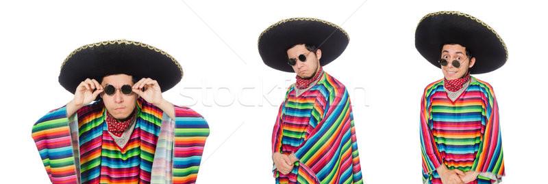 Divertente mexican indossare isolato bianco uomo Foto d'archivio © Elnur