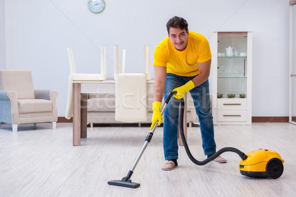 Jeune homme maison homme heureux travail Photo stock © Elnur