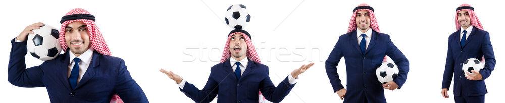 Arab businessman with football Stock photo © Elnur