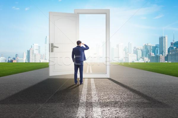 Imprenditore porta business opportunità uomo muro Foto d'archivio © Elnur