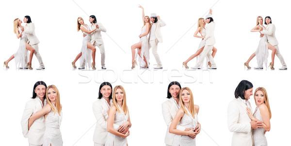 пару танцы изолированный белый женщину человека Сток-фото © Elnur