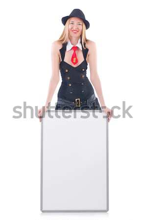 Kobieta marynarz pokładzie biały szczęśliwy moda Zdjęcia stock © Elnur