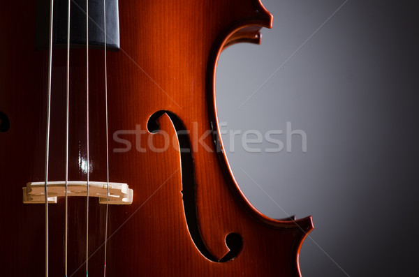 Donkere muziek viool retro kleur geluid Stockfoto © Elnur