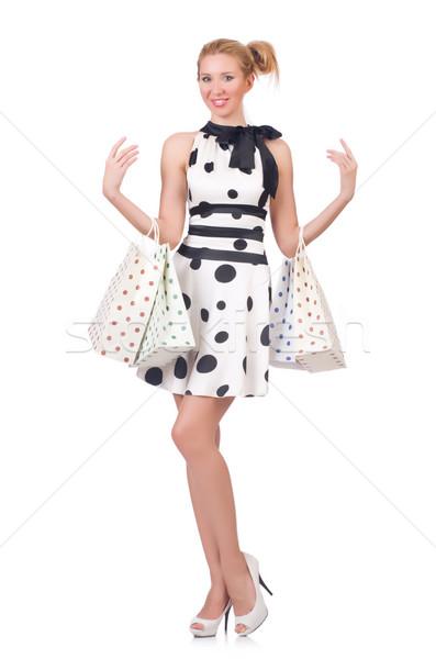 Meisje goede winkelen witte vrouw gelukkig Stockfoto © Elnur