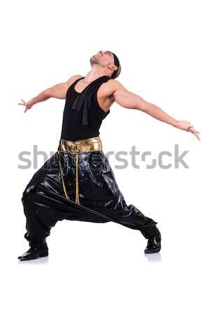 Rap táncos izolált fehér férfi tánc Stock fotó © Elnur