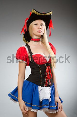 Woman pirate isolated on the white Stock photo © Elnur