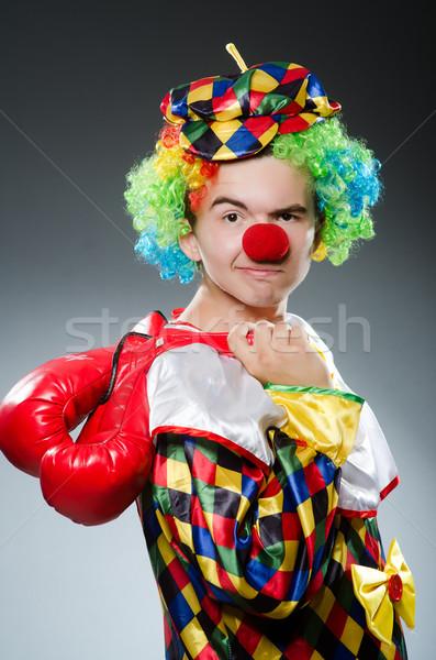 Grappig clown vak handschoenen leuk werknemer Stockfoto © Elnur