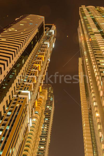 Alto residenziale edifici Dubai costruzione città Foto d'archivio © Elnur