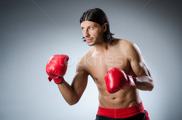 Martial arts fighter at the training Stock photo © Elnur