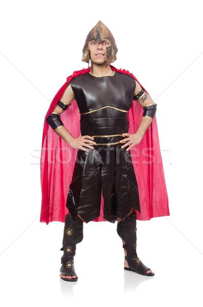 Gladiator geïsoleerd witte Rood grappig soldaat Stockfoto © Elnur