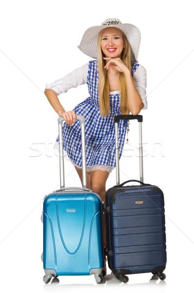女性 準備 夏 旅行 孤立した 白 ストックフォト © Elnur