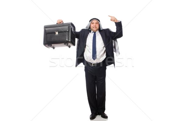 アラブ 男 荷物 白 背景 ビジネスマン ストックフォト © Elnur